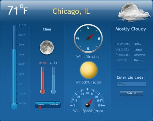 Flex_Weather_Widget