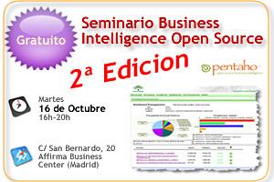Seminario Gratuito BI Open Source, 16 Oct