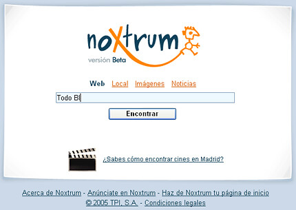 Pantallazo de Noxtrum Beta