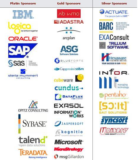 TDWI Sponsors