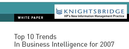10 tendencias en BI para el 2007