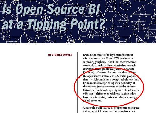 TDWI on Open Source BI